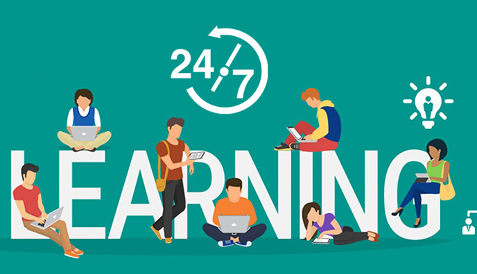 Students are open by various restraints of place and time in our eLearning platform. We allow students to get access to their much-beloved courses at any instant via 24/7 accessibility. It ensures that students can learn from different parts of the globe. Our support team offers further support such as tutoring centers online to access better assistance and pursue their course easily.