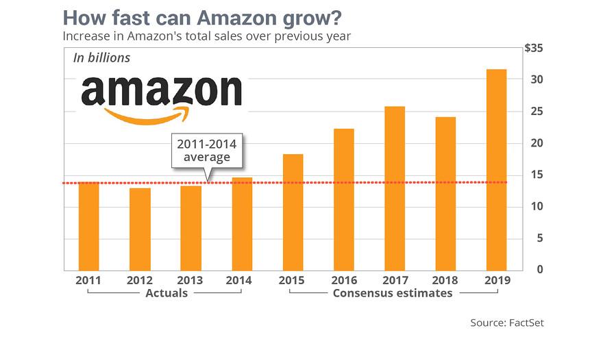 Amazon history of growing