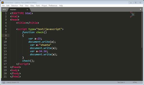 Java Script Programming