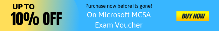 mcsa exam voucher