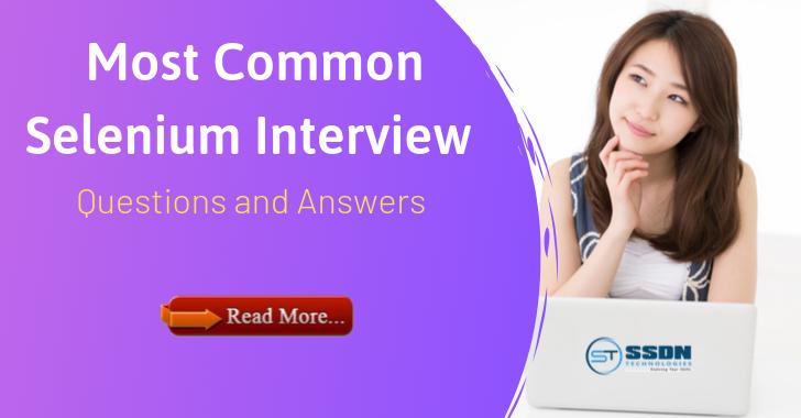 Selenium Interview Question