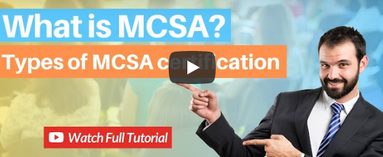 What is MCSA? MCSA Certification Cost, Salary and Career Scope