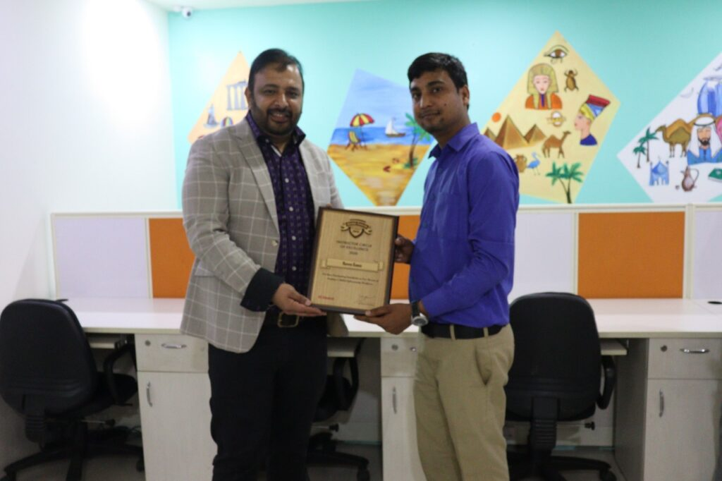 EC-Council Instructor (CEI) Circle of Excellence Award wins by Mr. Naveen Kumar.