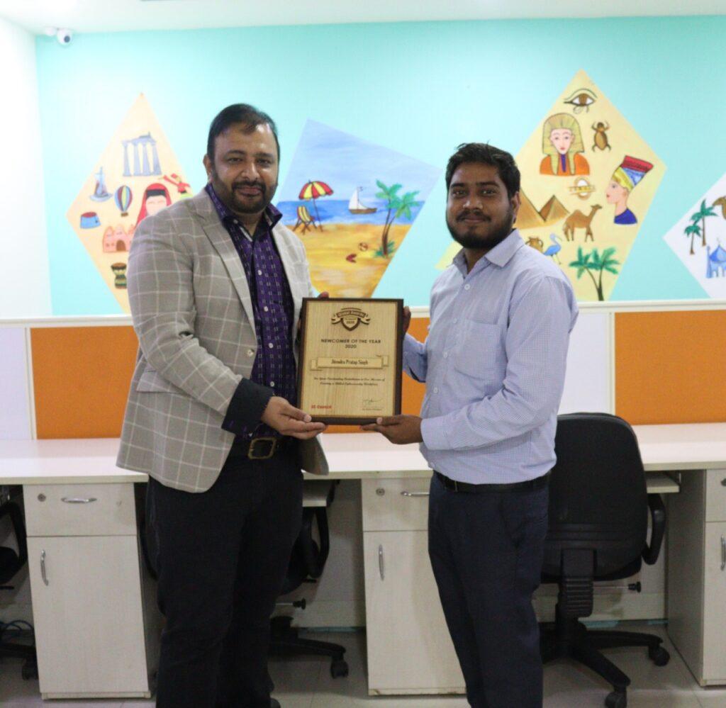 EC-Council Instructor (CEI) New Comer of the Year Award wins by Mr. Jitendra Pratap Singh.